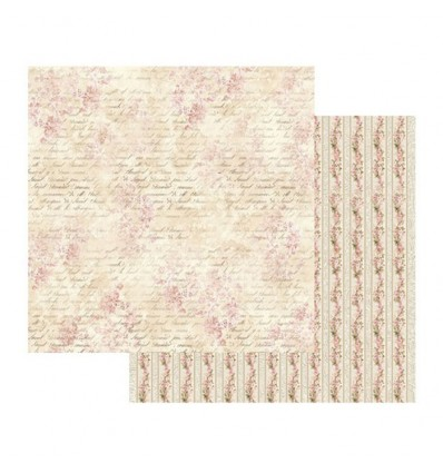 Double Face Scrap Paper - Pink Buttercup with writing