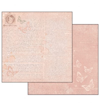 Double Face Scrap Paper - Writing ofn pink n+background and butterflies