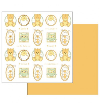 Double Face Scrap Paper - Tony bears and owl