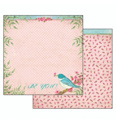 """Double face paper """"Fall in love"""" be you pink background"""