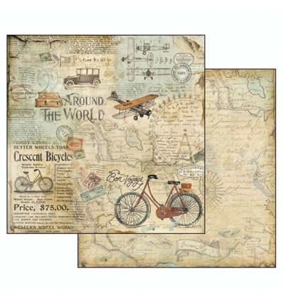 Double face paper Around the world Tour Bike