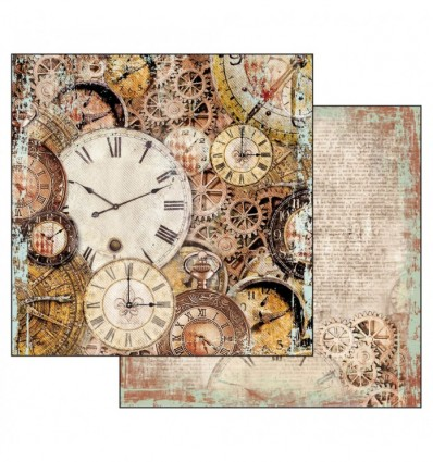 Double Face Paper Clockwise clocks with mechanism