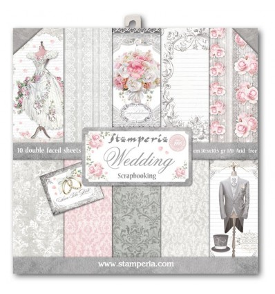 Pack 10 sheets double face 30x30 Wedding