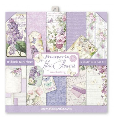 Pack 10 sheets double face 30x30 Lilac