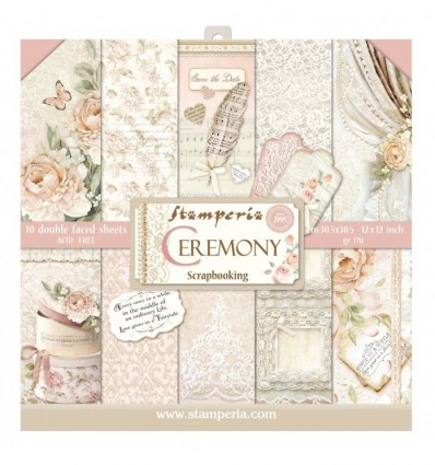"""Block 10 sheets 30,5x30,5 (12""""x12"""" Double Face Ceremony"""