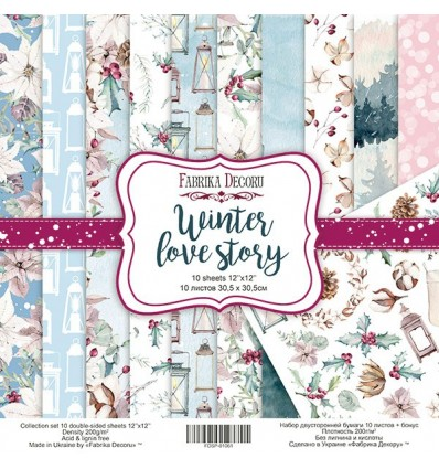 Papel doble cara Winter Love Story- 12x12