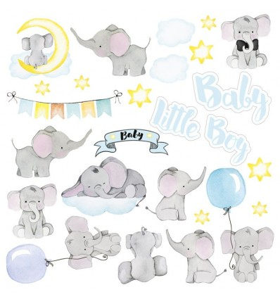 "Sheet of images for cutting. Collection ""My little baby boy"""