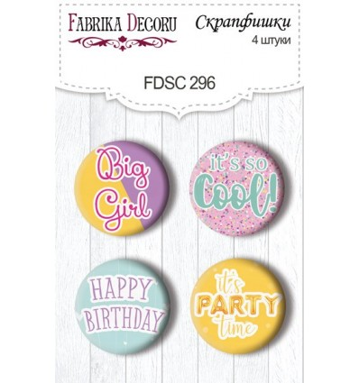Flair buttons. Set of 4pcs 296