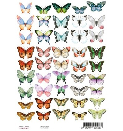 Set of of pictures for decoration Butterflies 1 A4