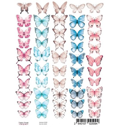Set of of pictures for decoration Butterflies 2 A4