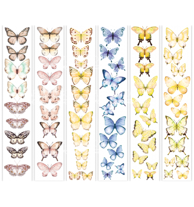 Set of stripes with pictures for decoration Butterflies