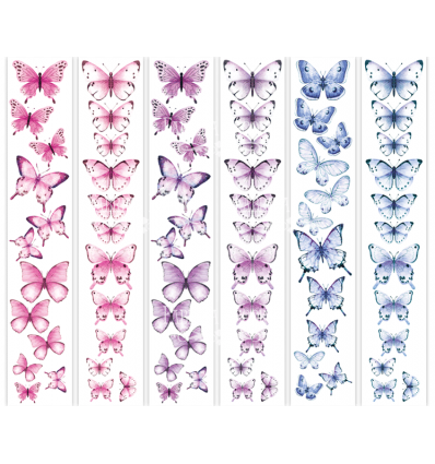 Set of stripes with pictures for decoration Butterflies 1