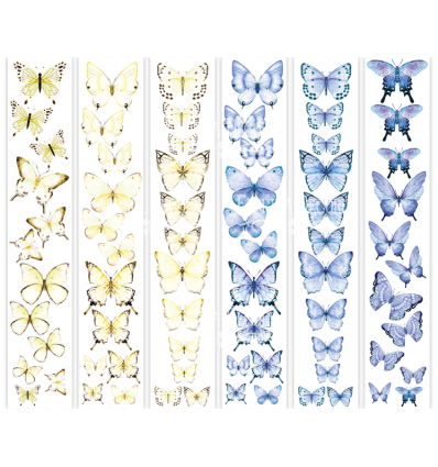 Set of stripes with pictures for decoration Butterflies 2