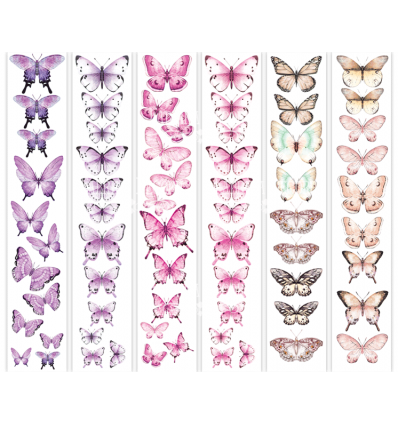 Set of stripes with pictures for decoration Butterflies 4