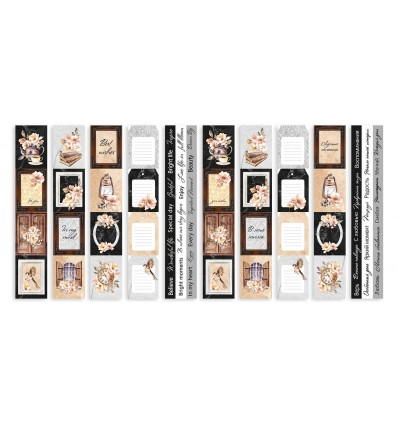 Set of stripes with pictures for decoration Sentimental story