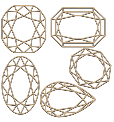 Set of mdf elements for decorating 250