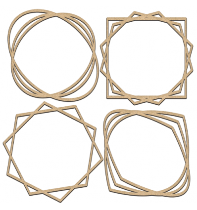 Set of mdf elements for decorating 255