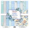 Double-sided scrapbooking paper set Shabby baby boy redesign 12x12