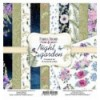 Double-sided scrapbooking paper set Night garden 8x8