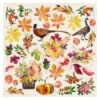 Double-sided scrapbooking paper set Botany autumn redesign 8x8
