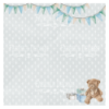 Double-sided scrapbooking paper set Shabby baby boy redesign 8x8