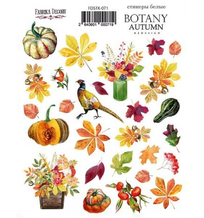 Kit of stickers 071, Botany autumn redesign