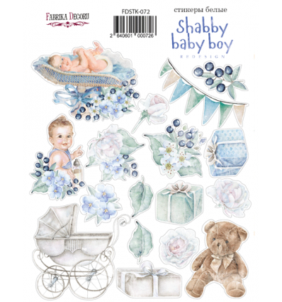Kit of stickers 072, Shabby baby boy redesign