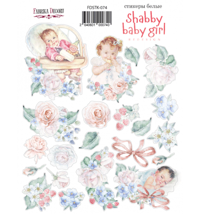 Kit of stickers 074, Shabby baby girl redesign