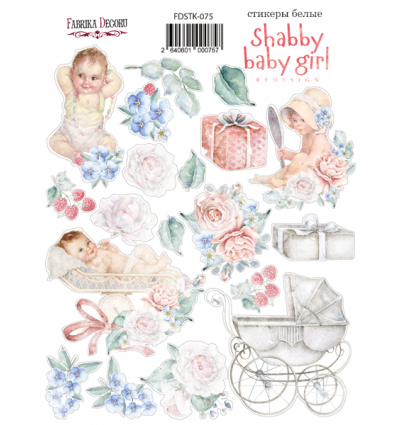 Kit of stickers 075, Shabby baby girl redesign 1