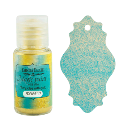 Pintura magica con efecto color Turquoise with gold- 15ml