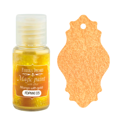 Pintura magica con efecto color Mango with gold- 15ml