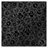 Sheet of single-sided paper embossed by silver foil Silver Clocks Black 12x12