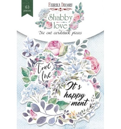 Set of die cuts Shabby love 63 pcs