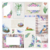 Double-sided scrapbooking paper set Colorful spring 8x8 10 sheets