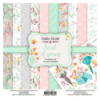 Double-sided scrapbooking paper set Scent of spring 8x8 10 sheets