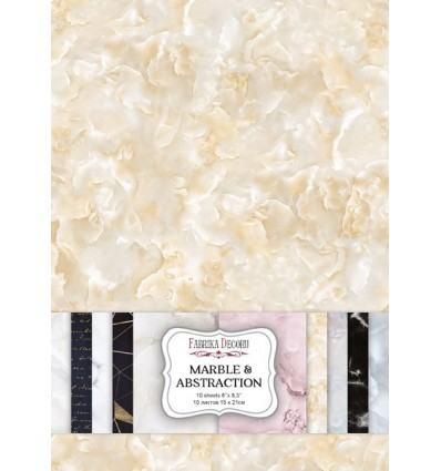 "Double-sided scrapbooking paper set MARBLE&ABSTRACTION 6""x8.3"" 10 sheets"