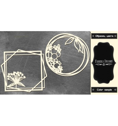 Chipboards set Frames with summer flowers 604