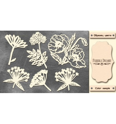Chipboards set Summer flowers 605