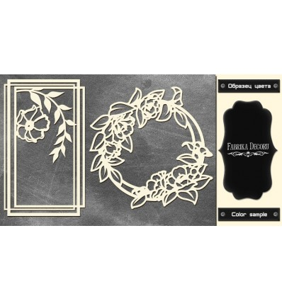 Chipboards set Frames with flowers 606