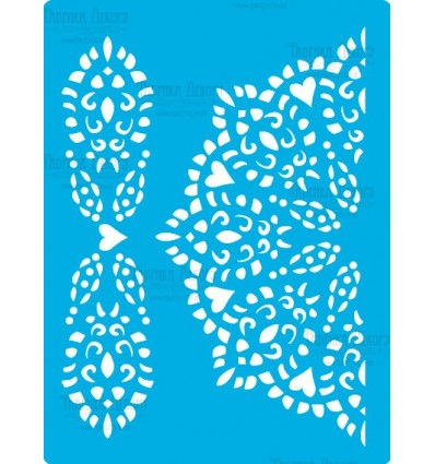 Stencil for crafts 15x20cm Lace napkin with border 356