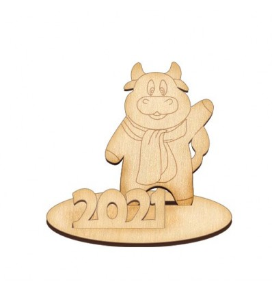 Plywood blank 343 The bull with the scarf 2021