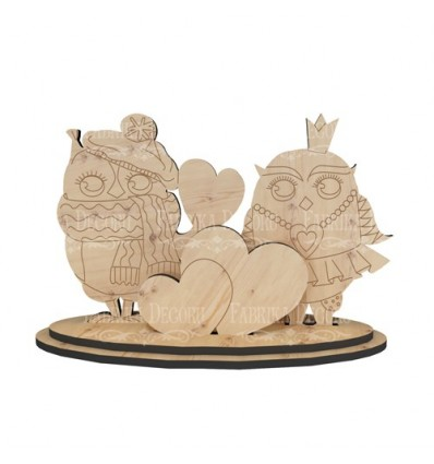 Plywood blank 374 Owls in love