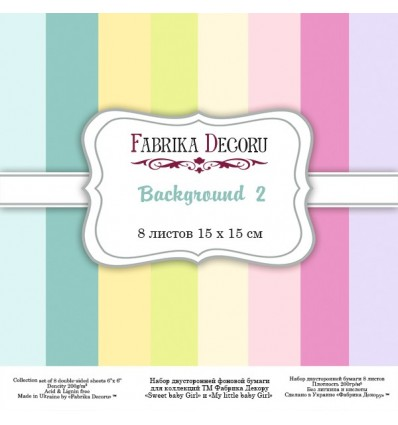 Papel doble cara Scrapbooking set Backgrounds 2- 6x 6 - Fabrika Decoru