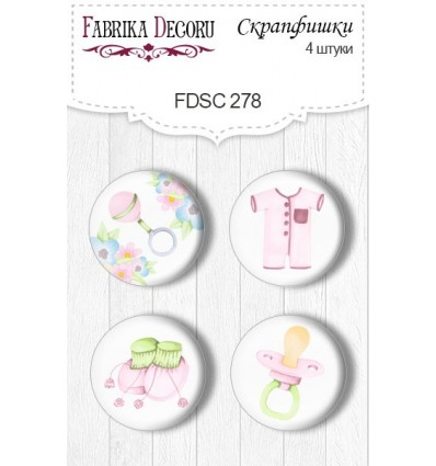 Flair buttons.Set of 4pcs 278