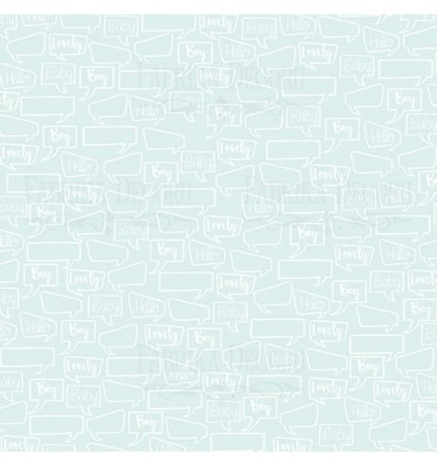 """Double-sided scrapbooking paperSet Puffy Fluffy Boy, 12""""x 12"""""""