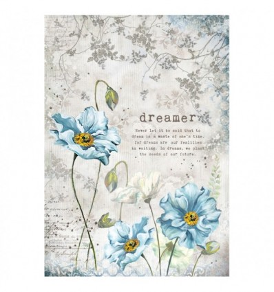 A4 Decoupage Rice Paper Packed Dreamer